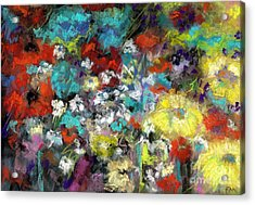 Acrylic Print featuring the painting Wildflower Field by Frances Marino