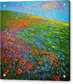 Wildflower Pastoral Acrylic Print