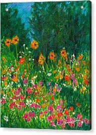 Wildflower Rush Acrylic Print by Kendall Kessler
