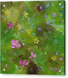 Acrylic Print featuring the painting Wildflower Support by Judith Rhue