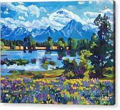 Wildflower Valley Acrylic Print
