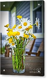Wildflowers Bouquet At Cottage Acrylic Print by Elena Elisseeva