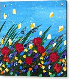 Wildflowers Dancing Acrylic Print