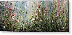Wildflowers Acrylic Print by Dee Carpenter