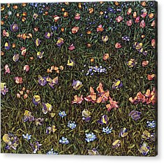 Acrylic Print featuring the painting Wildflowers by James W Johnson
