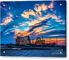 Wildwood Beach Sunset Acrylic Print