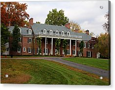 Acrylic Print featuring the photograph Wildwood Manor House In The Fall by Michiale Schneider