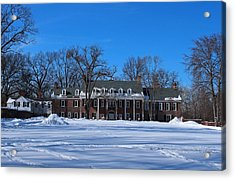 Wildwood Manor House In The Winter Acrylic Print by Michiale Schneider