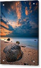 Wildwood Sunset Acrylic Print by Rick Berk