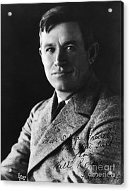 Will Rogers Acrylic Print by H. Armstrong Roberts/ClassicStock