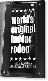 Will Rogers Rodeo Bw Acrylic Print