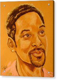 Will Smith Acrylic Print by Sandra Valentini