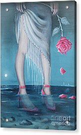 Acrylic Print featuring the painting Will You Be My Valentine by Sgn