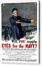 Will You Supply Eyes For The Navy Acrylic Print