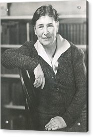 Willa Cather At The Time She Wrote Lucy Acrylic Print by Everett