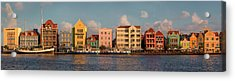 Willemstad Curacao Panoramic Acrylic Print by Adam Romanowicz