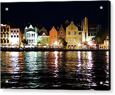 Acrylic Print featuring the photograph Willemstad, Island Of Curacoa by Kurt Van Wagner