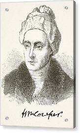 William Cowper 1731- 1800. English Acrylic Print by Vintage Design Pics