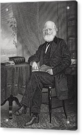 William Cullen Bryant 1794 1878 Acrylic Print by Vintage Design Pics