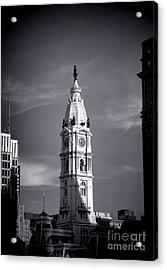 William Penn Above Philadelphia City Hall Acrylic Print by Olivier Le Queinec