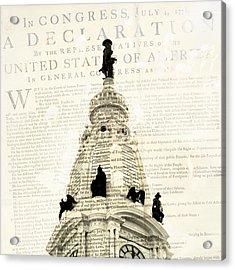 William Penn City Hall Acrylic Print by Brandi Fitzgerald