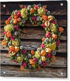 Williamburg Wreath 81 Acrylic Print