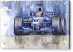 Williams Bmw Fw24 2002 Juan Pablo Montoya Acrylic Print by Yuriy  Shevchuk