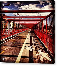Williamsburg Bridge - New York City Acrylic Print by Vivienne Gucwa