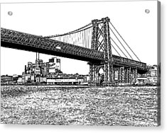 Williamsburg Bridge 1.1 - New York Acrylic Print by Frank Mari