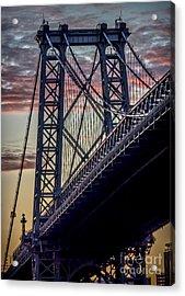 Williamsburg Bridge Structure Acrylic Print by James Aiken