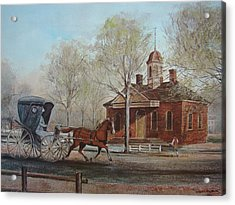 Williamsburg Courthouse Acrylic Print by Charles Roy Smith