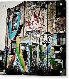 Williamsburg Graffiti Acrylic Print by Natasha Marco