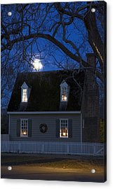 Williamsburg House In Moonlight Acrylic Print