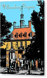 Williamsburg Virginia - Poster Art Acrylic Print by Art America Gallery Peter Potter