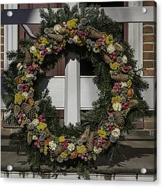 Williamsburg Wreath 31 Acrylic Print