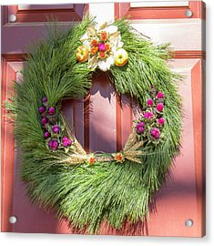 Williamsburg Wreath 50 Acrylic Print