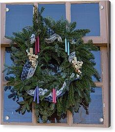 Williamsburg Wreath 74 Acrylic Print by Teresa Mucha