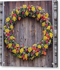 Williamsburg Wreath 82 Acrylic Print