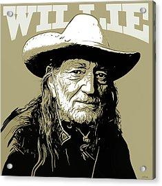 Willie Acrylic Print by Greg Joens