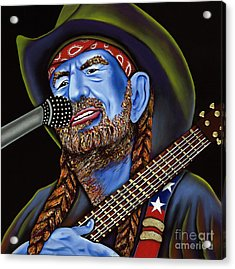 Willie Acrylic Print by Nannette Harris