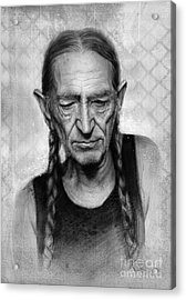 Willie Nelson Acrylic Print by Andre Koekemoer