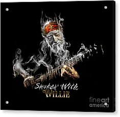 Willie Smoken' Acrylic Print