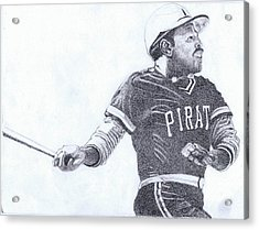 Willie Stargell Acrylic Print by Paul Smutylo