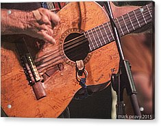 Willie's Guitar Acrylic Print