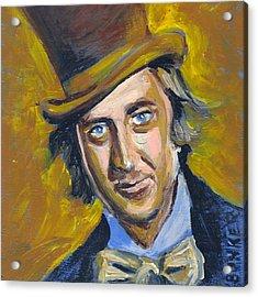 Willly Wonka Acrylic Print by Buffalo Bonker