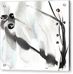 Willow Birds Acrylic Print