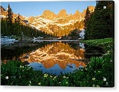 Willow Lake Sunrise Acrylic Print by Aaron Spong
