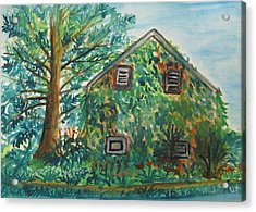 Willowwood Acrylic Print by Caroline Lifshey