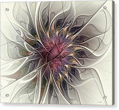 Acrylic Print featuring the digital art Willowy Mum by Kim Redd