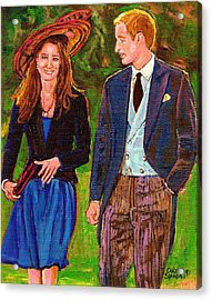 Wills And Kate The Royal Couple Acrylic Print by Carole Spandau